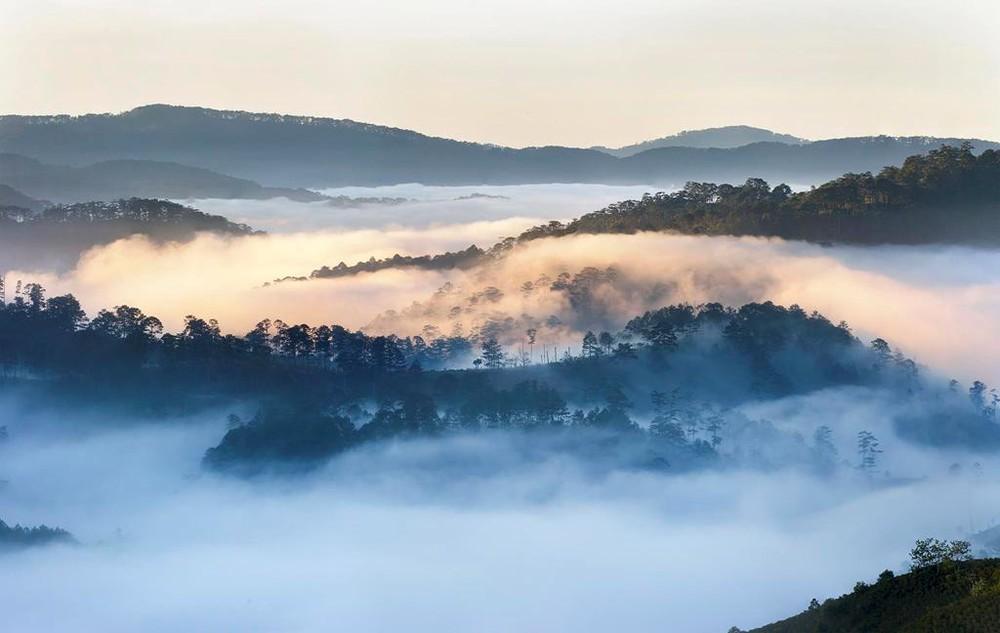 Đà Lạt mù mịt sương mù