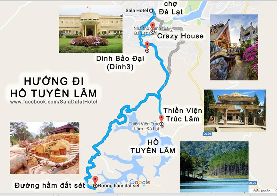 bản đồ đường hầm điêu khắc Đà Lạt