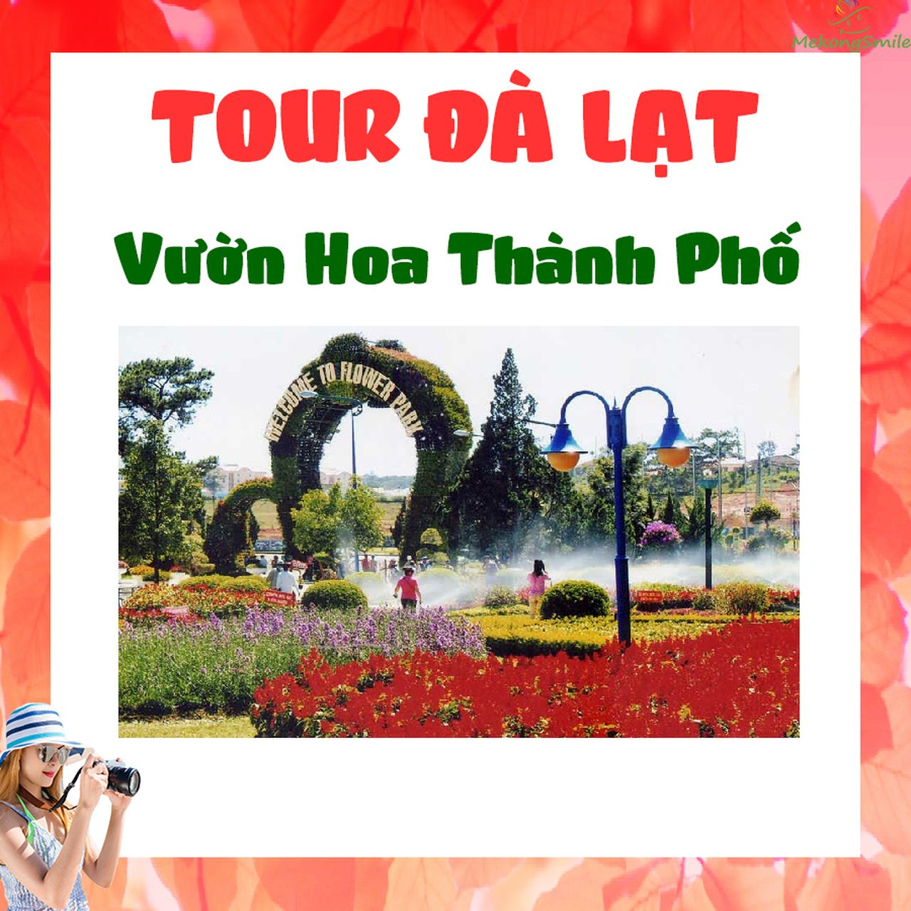 Tour vườn hoa ở Đà Lạt