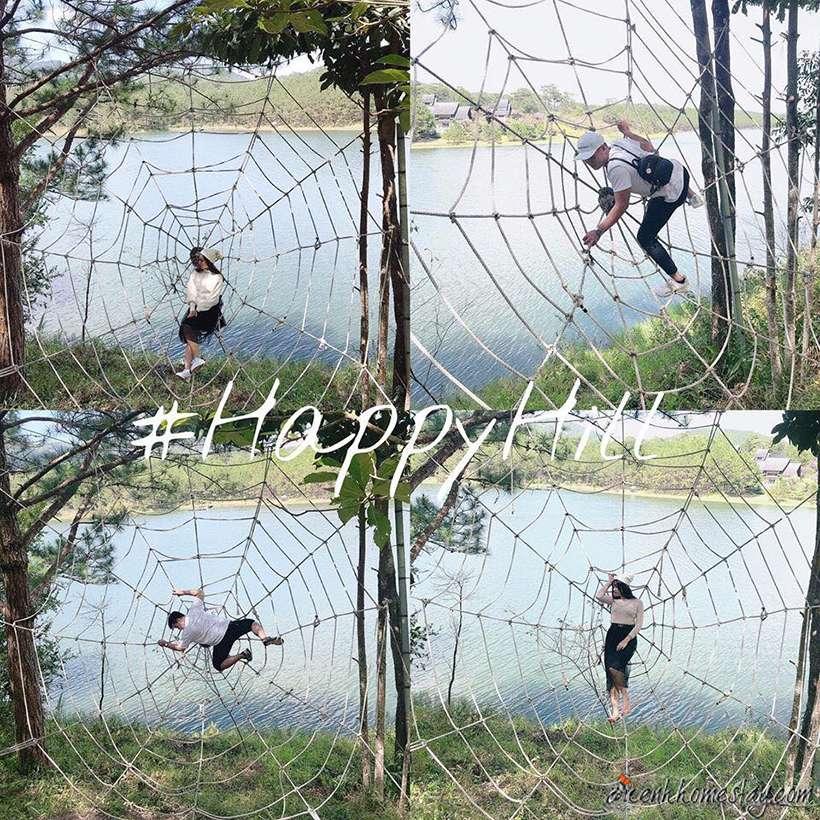 Mạng nhện khổng lồ ở Happy Hill Đà Lạt
