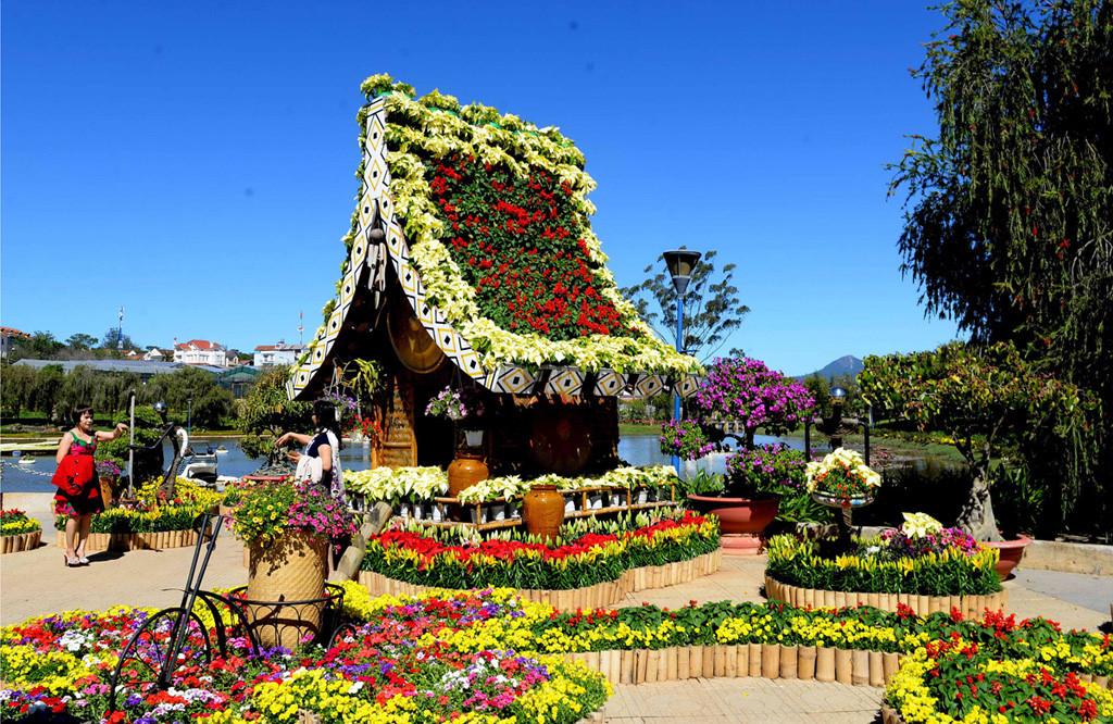 ảnh tại vườn hoa Đà Lạt