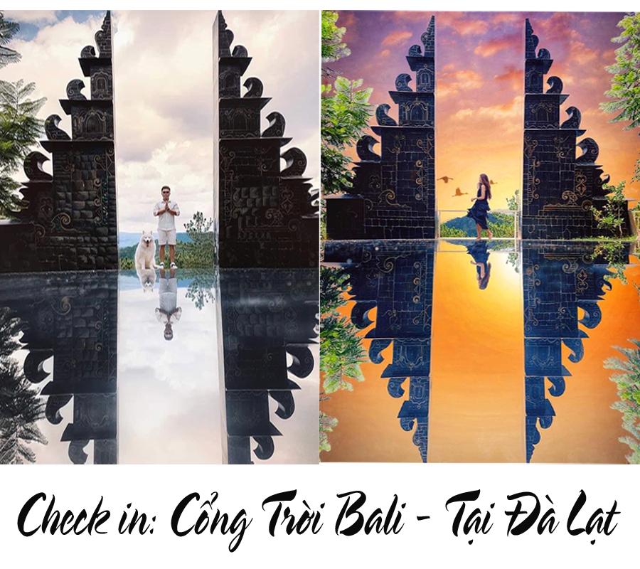 check in cổng trời Bali Đà Lạt