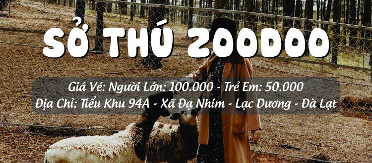 Giá vé ở vườn thú Zoodoo Đà Lạt
