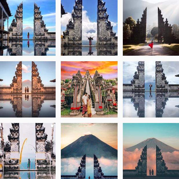 Cổng trời Bali ở đảo Indonesia