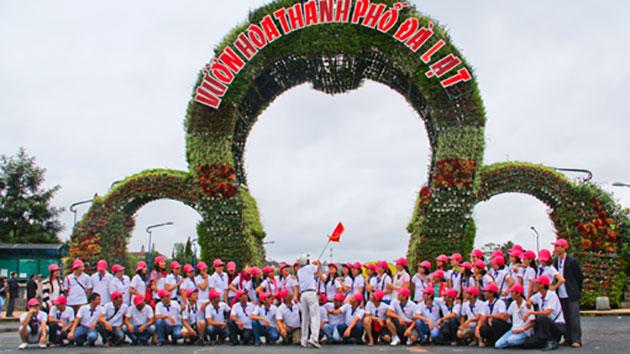 Tour vườn hoa Đà Lạt